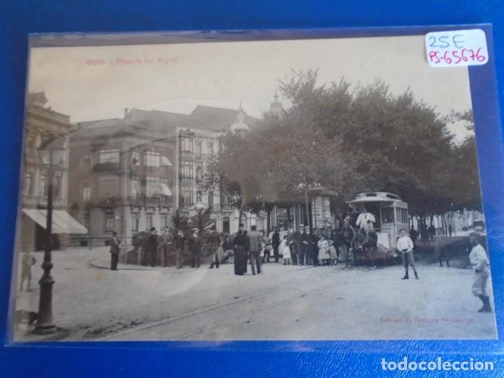 (PS-65676)POSTAL DE GIJON-PLAZA DE SAN MIGUEL.EDICION BENIGNO FERNANDEZ (Postales - España - Asturias Antigua (hasta 1.939))