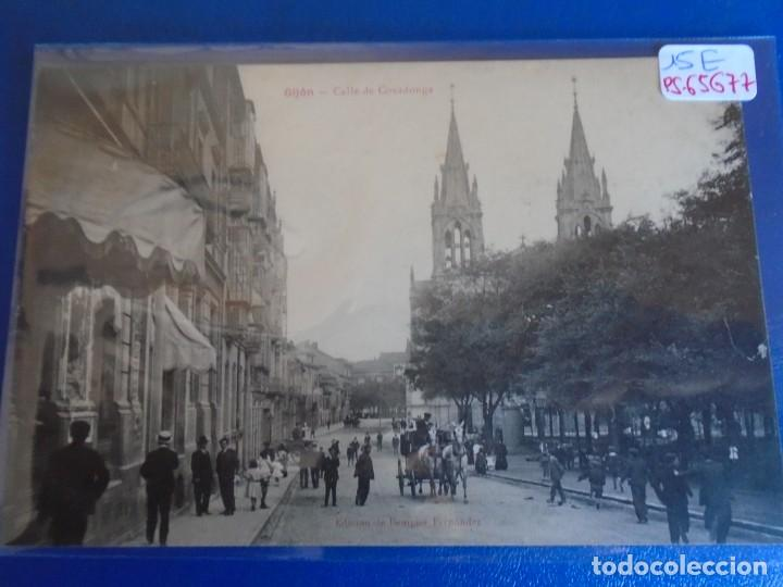 (PS-65677)POSTAL DE GIJON-CALLE DE COVADONGA.EDICION BENIGNO FERNANDEZ (Postales - España - Asturias Antigua (hasta 1.939))