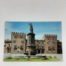 Postales: POSTAL GIJÓN. MONUMENTO A PELAYO Y PALACIO REVILLAGIJEDO. ASTURIAS.. Lote 269324038