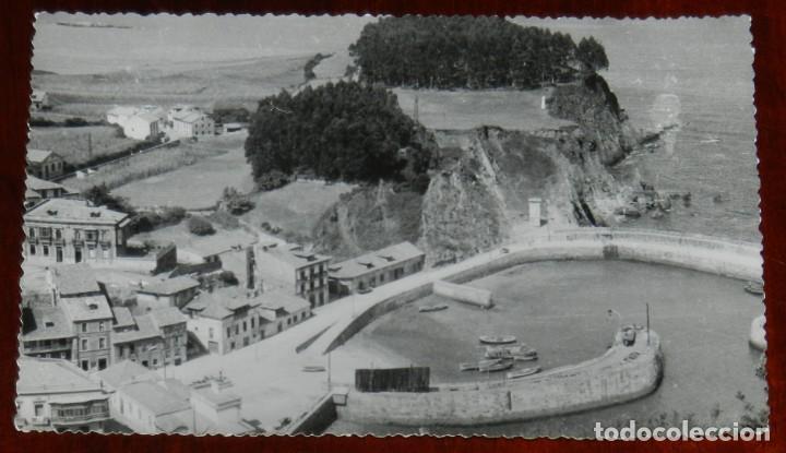 FOTO POSTAL DE CANDAS, ASTURIAS, VISTA DEL PUERTO, FOTO DIAZ, NO CIRCULADA, ESCRITA EN 1960. (Postales - España - Asturias Antigua (hasta 1.939))