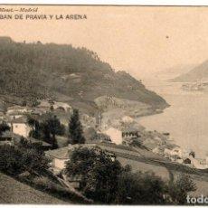 Postales: BONITA POSTAL - SAN ESTEBAN DE PRAVIA Y LA ARENA (ASTURIAS) - HAUSER Y MENET. Lote 275116343