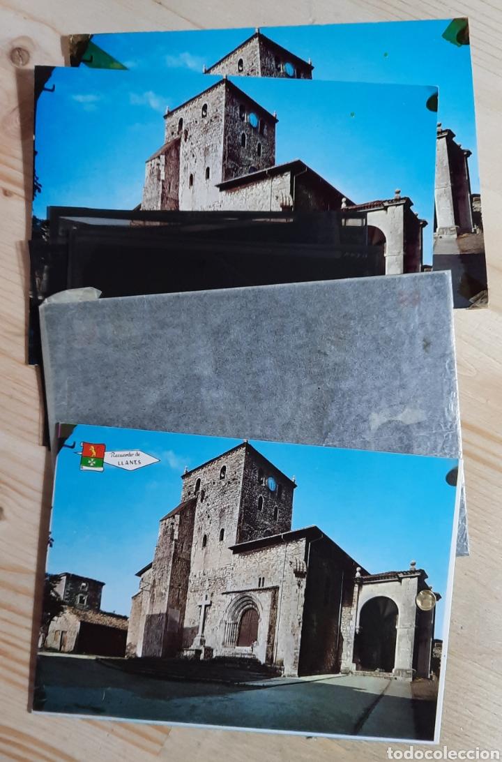 LLANES / IGLESIA PARROQUIAL / POSTAL , PRUEBAS DE COLOR Y NEGATIVOS / EDI. ALCE Nº 219 (Postales - España - Asturias Moderna (desde 1.940))