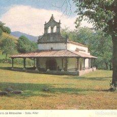 Postales: TARJETA TIPO POSTAL, SANTUARIO DE MIRAVALLES, SOTO-ALLER, ASTURIAS, SIN EDITOR. Lote 276358113
