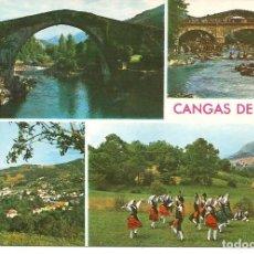 Postales: POSTAL CANGAS DE ONIS (ASTURIAS) VARIAS VISTAS - ARRIBAS 1976. Lote 276381008