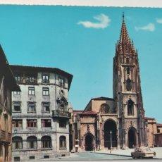 Postales: POSTAL OVIEDO PLAZA DE LA CATEDRAL. N. 5104. Lote 277043723
