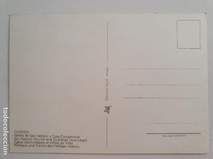 Postales: OVIEDO - IGLESIA DE SAN ISIDORO - RENAULT 4 L - LAXC - P57930 - Foto 2 - 278295433