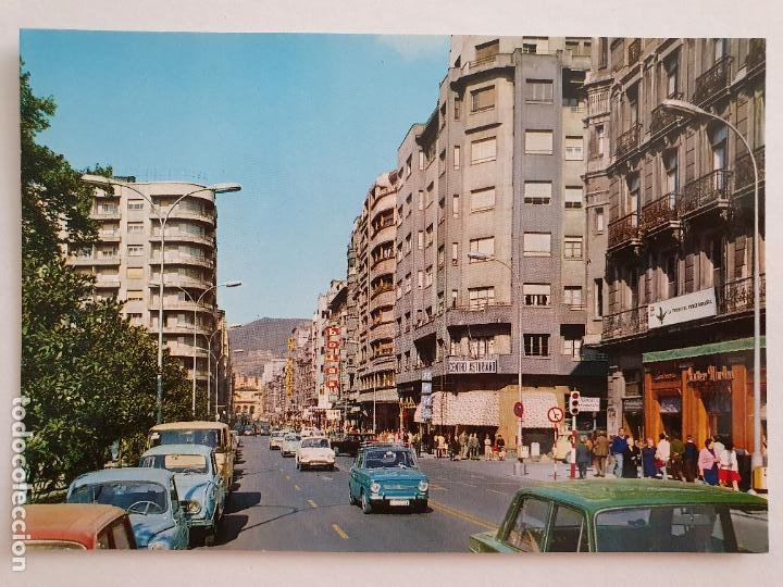 OVIEDO - CALLE DE URÍA - RENAULT 4 L - SEAT 850 - LAXC - P57932 (Postales - España - Asturias Moderna (desde 1.940))