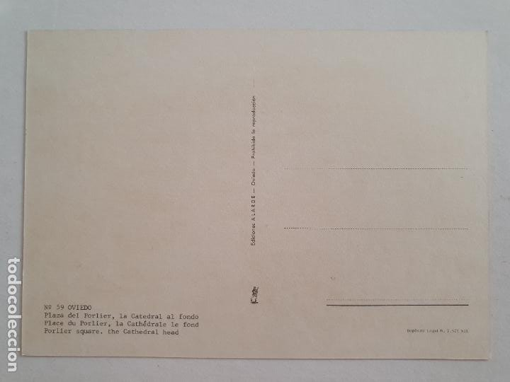 Postales: OVIEDO - PLAZA DE PORLIER - CATEDRAL AL FONDO - LAXC - P57941 - Foto 2 - 278296893