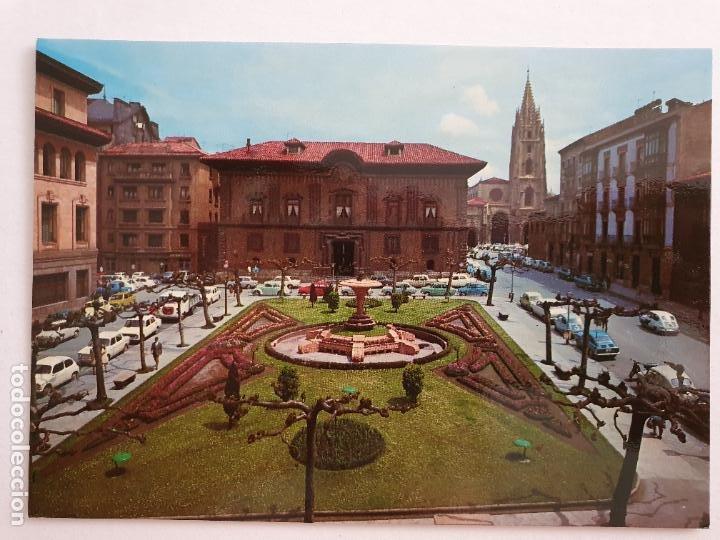 OVIEDO - PLAZA DE PORLIER - CATEDRAL AL FONDO - LAXC - P57941 (Postales - España - Asturias Moderna (desde 1.940))