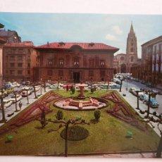 Postales: OVIEDO - PLAZA DE PORLIER - CATEDRAL AL FONDO - LAXC - P57941. Lote 278296893