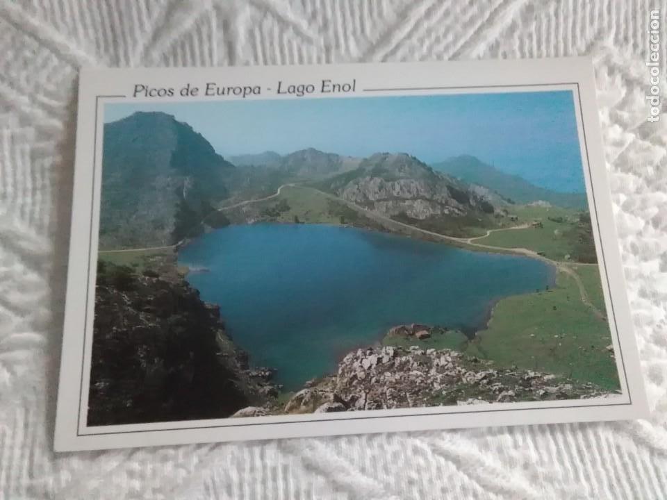POSTAL DE ASTURIAS PICOS DE EUROPA LAGO ENOL (Postales - España - Asturias Moderna (desde 1.940))