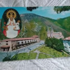 Postales: POSTAL DE ASTURIAS COVADONGA BASÍLICA Y VIRGEN. Lote 278506453