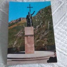 Postales: POSTAL DE ASTURIAS COVADONGA ESTATUA DEL REY DON PELAYO. Lote 278506693