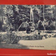 Postales: OVIEDO FUENTE DE LAS RANAS JOSE R FDEZ S/Nº SC ANIMADA. Lote 278555863