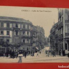 Postales: OVIEDO CALLE SAN FRANCISCO JOSE R FDEZ S/Nº SC ANIMADA. Lote 278556198