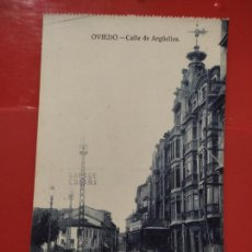 Postales: OVIEDO CALLE ARGÜELLES JOSE R FDEZ S/Nº SC ANIMADA. Lote 278558383