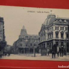 Postales: OVIEDO CALLE DE FRUELA JOSE R FDEZ S/Nº SC ANIMADA. Lote 278558573