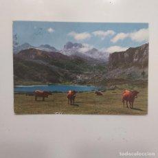 Postales: POSTAL COVADONGA. PICOS DE EUROPA. LAGO DE LA ERCINA (ASTURIAS) CIRCULADA 1967. Nº 8 GARRABELLA. Lote 279556233