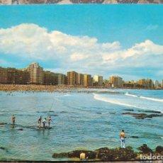 Cartes Postales: GIJON - PLAYA DE SAN LORENZO. Lote 280508618