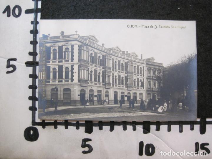Postales: GIJON-PLAZA DE EVARISTO SAN MIGUEL-FOTOGRAFICA THOMAS-POSTAL ANTIGUA-(82.749) - Foto 4 - 282257948