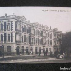 Postales: GIJON-PLAZA DE EVARISTO SAN MIGUEL-FOTOGRAFICA THOMAS-POSTAL ANTIGUA-(82.749). Lote 282257948
