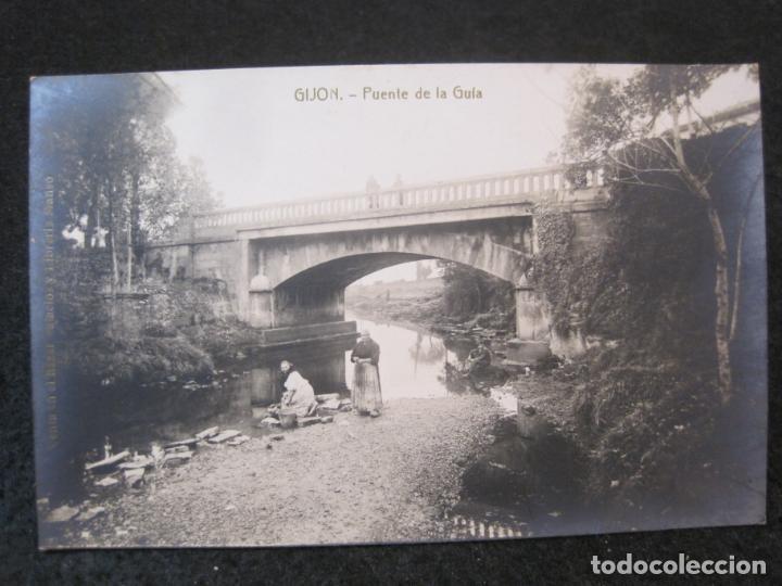 GIJON-PUENTE DE LA GUIA-FOTOGRAFICA THOMAS-POSTAL ANTIGUA-(82.750) (Postales - España - Asturias Antigua (hasta 1.939))