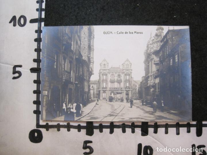 Postales: GIJON-CALLE DE LOS MOROS-FOTOGRAFICA THOMAS-POSTAL ANTIGUA-(82.751) - Foto 4 - 282258028