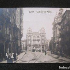 Postales: GIJON-CALLE DE LOS MOROS-FOTOGRAFICA THOMAS-POSTAL ANTIGUA-(82.751). Lote 282258028