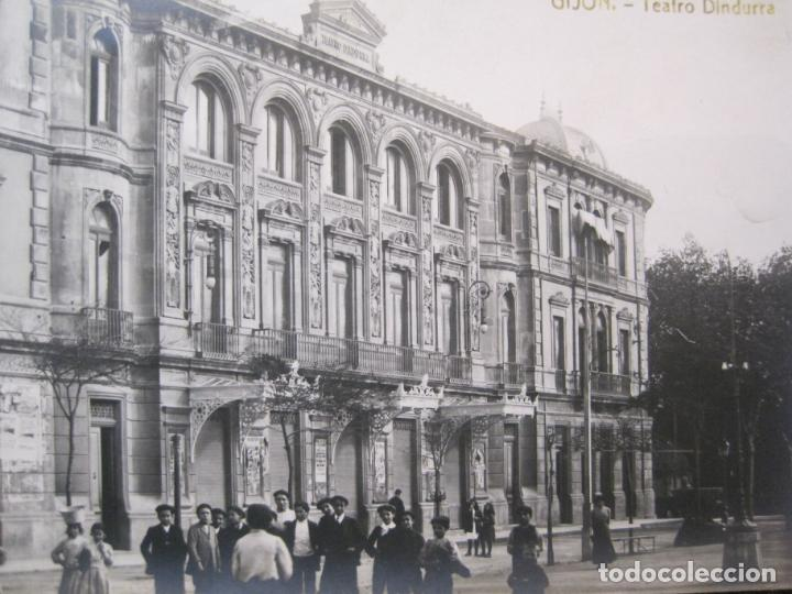 Postales: GIJON-TEATRO DINDURRA-FOTOGRAFICA THOMAS-POSTAL ANTIGUA-(82.752) - Foto 2 - 282258078