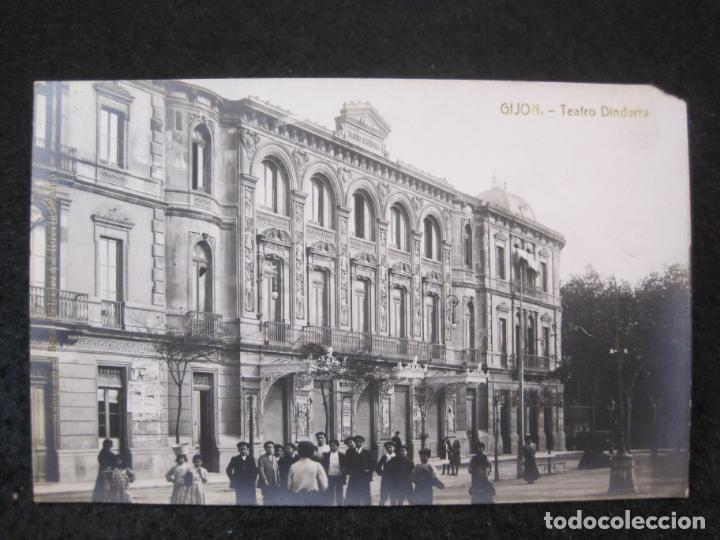 GIJON-TEATRO DINDURRA-FOTOGRAFICA THOMAS-POSTAL ANTIGUA-(82.752) (Postales - España - Asturias Antigua (hasta 1.939))