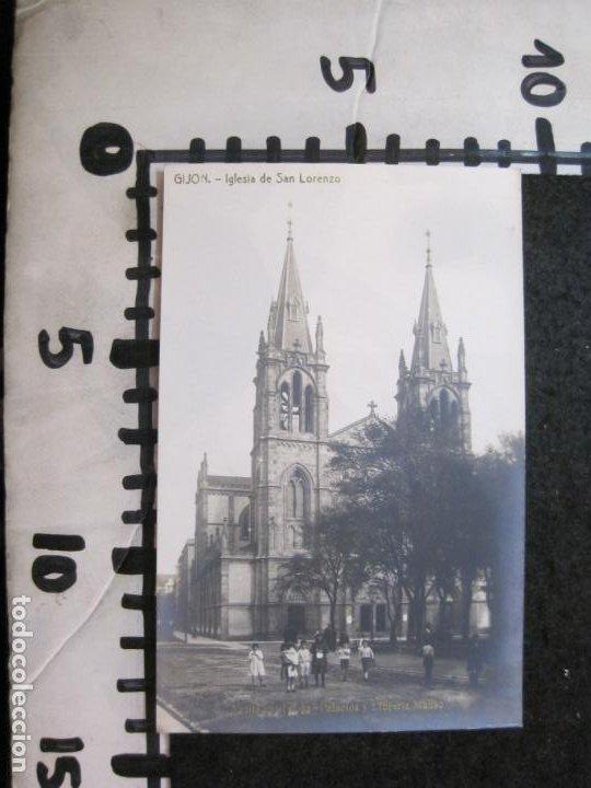 Postales: GIJON-IGLESIA DE SAN LORENZO-FOTOGRAFICA THOMAS-POSTAL ANTIGUA-(82.753) - Foto 4 - 282258123