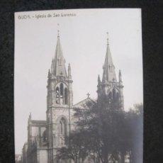 Postales: GIJON-IGLESIA DE SAN LORENZO-FOTOGRAFICA THOMAS-POSTAL ANTIGUA-(82.753). Lote 282258123