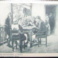 Postales: POSTAL COSTUMBRES ASTURIANAS: LA BRISCA. CIRCA 1905. SIN CIRCULAR NI DIVIDIR.. Lote 284785938