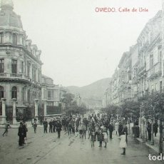 Postales: ANTIGUA POSTAL OVIEDO CALLE DE URÍA. FOTOTIPIA THOMAS.. Lote 284799363