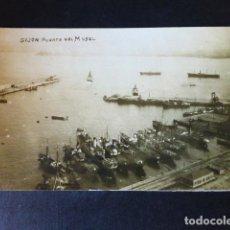 Postales: GIJON ASTURIAS PUERTO DEL MUSEL POSTAL FOTOGRAFICA HACIA 1915. Lote 285060558