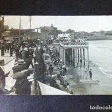 Cartoline: GIJON ASTURIAS TERRAZA DE LA PLAYA DE SAN LORENZO POSTAL FOTOGRAFICA VINCK. Lote 285062053