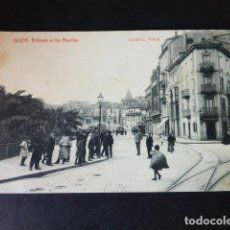 Postales: GIJON ASTURIAS ENTRADA A LOS MUELLES. Lote 285062148