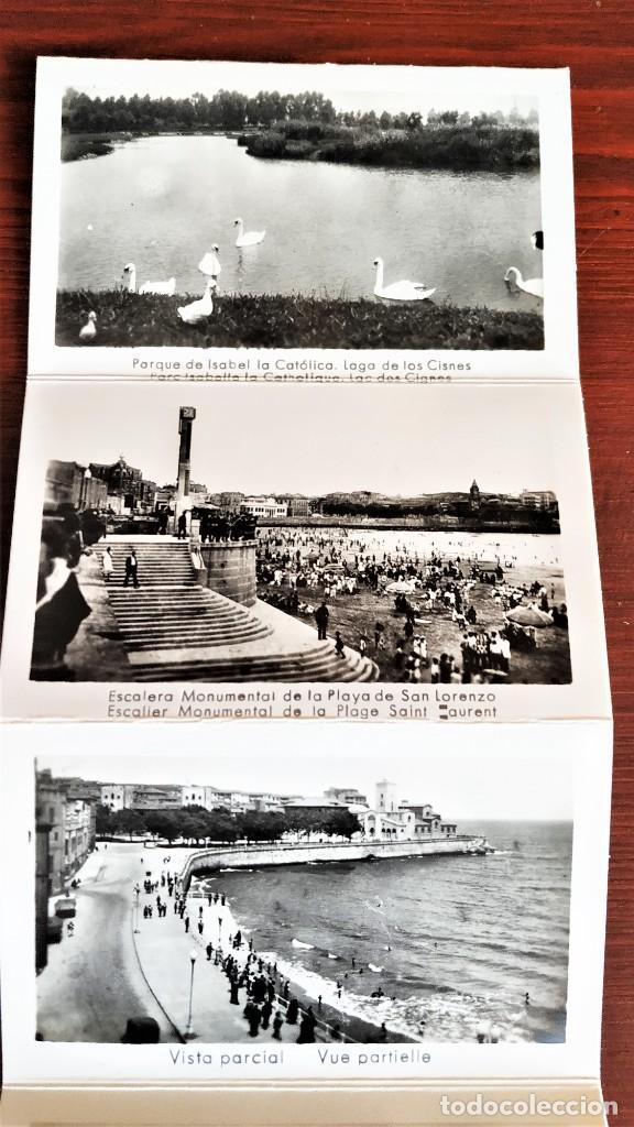 Postales: Block con 14 postales fotográficas Gijón . - Foto 4 - 287103388