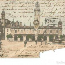 Cartoline: POSTAL LUGO. 1908 ALFONSO XIII CADETE 10CTS. Lote 287659898