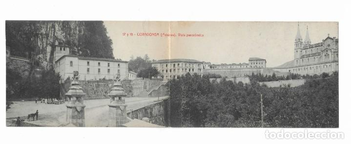 /POSTAL ANTIGUA- 17 Y 18- COVADONGA( ASTURIAS) VISTA PANORÁMICA (Postales - España - Asturias Antigua (hasta 1.939))