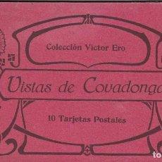 Postales: COVADONGA, BLOC POSTAL CON 9 POSTALES. ED. VICTOR ERO. Lote 289882458