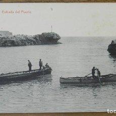 Postales: LLANES (ASTURIAS) ENTRADA DEL PUERTO, 15 THOMAS 5593, LIBRERIA PESQUERA, SIN CIRCULAR. Lote 290486728