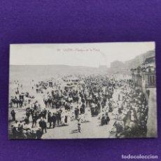 Postales: POSTAL DE GIJON (ASTURIAS). Nº26 PASEOS EN LA PLAYA. ED.F.MATOS. ORIGINAL.. Lote 291208138