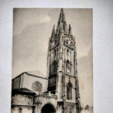 Postales: OVIEDO TORRE DE LA CATEDRAL POR HAUSER Y MENET SIN CIRCULAR. Lote 292374583