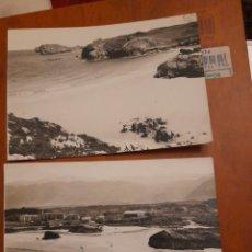 Postales: 2 ANTIGUAS POSTALES FOTOGRAFÍCAS, PLAYA DE CELORIO DE LLANES. Lote 293149168