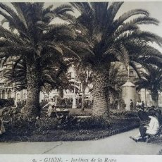 Postales: GIJÓN. JARDINES DE LA REINA . 1930. Lote 293203158