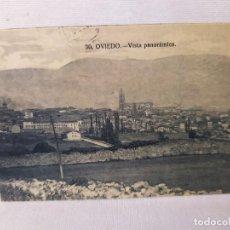 Postales: 1925. POSTAL VISTA PANORÁMICA. OVIEDO. GRAFOS. MADRID. 9X14CM. Lote 293415363