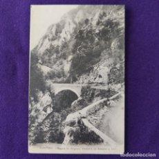 Postales: POSTAL DE PONTON (ASTURIAS). PUENTE DE ANGOYO, DIVISORIA DE ASTURIAS Y LEON.. Lote 293763573