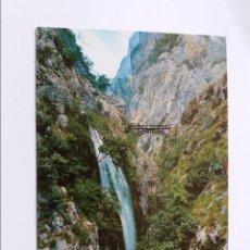 Postales: POSTAL - PICOS DE EUROPA - PUENTE DE BOLIN SOBRE EL RIO CARES - CIRCULADA. Lote 295010848