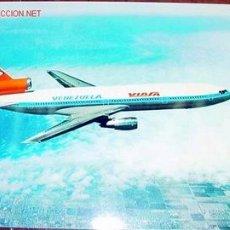 Postales: ANTIGUA POSTAL CON PUBLICIDAD DE UN AVION DOUGLAS DC-10-30 DE VIASA - VENEZOLANA INTERNACIONAL AVIAC. Lote 219666